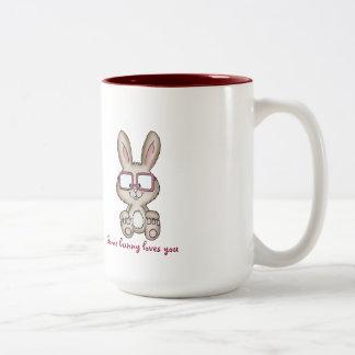 Algún conejito le ama la taza - diseño lindo con
