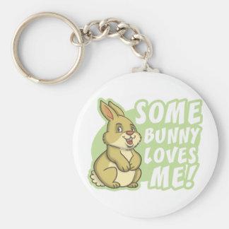 Algún conejito me ama Pascua Llaveros Personalizados