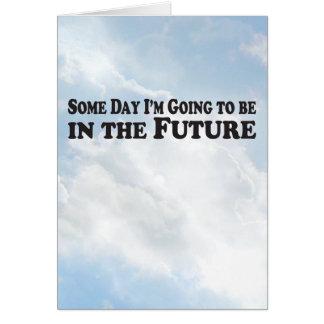 Algún día el futuro - tarjeta vertical