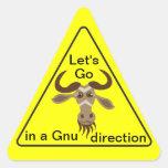 Algún el Gnu Stuff_Let entra en un pegatina de la