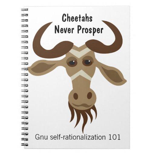 Algún Gnu Stuff_Cheetahs nunca prospera personaliz Note Book