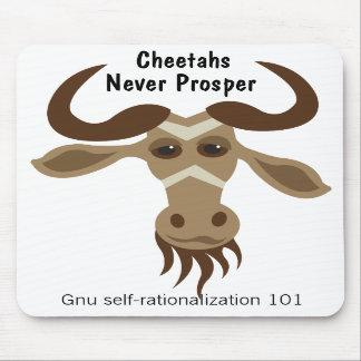 Algún Gnu Stuff_Cheetahs nunca prospera Tapetes De Ratón