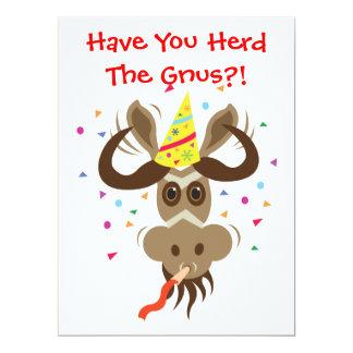 ¡Algún Gnu Stuff_Have usted reúne los Gnus?! Invitación 16,5 X 22,2 Cm
