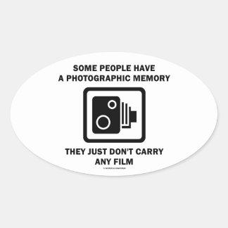 Alguna gente tiene una memoria fotográfica la cám pegatina de oval personalizadas