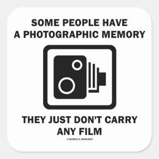 Alguna gente tiene una memoria fotográfica la cám calcomania cuadradas