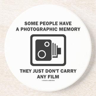 Alguna gente tiene una memoria fotográfica (la cám posavasos manualidades