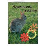Alguna tarjeta de cumpleaños del conejito