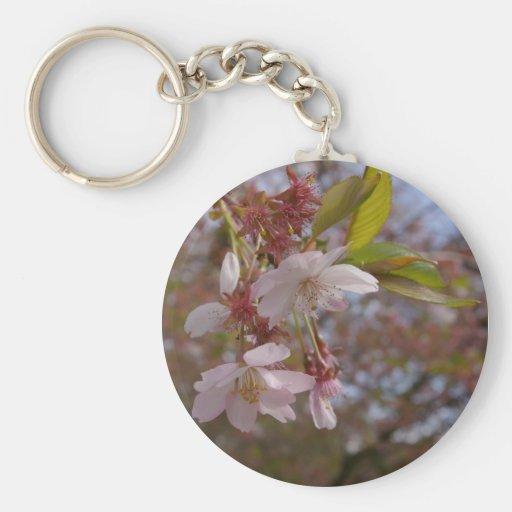 Algunas flores de cerezo llavero personalizado