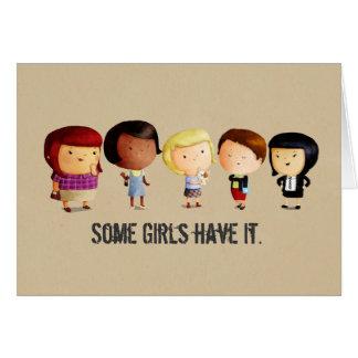 Algunos chicas del subcultivo tarjeta de felicitación