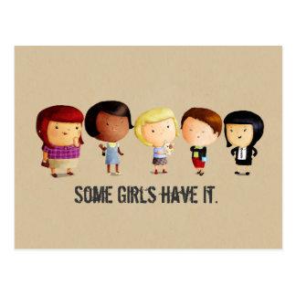 Algunos chicas del subcultivo tarjeta postal