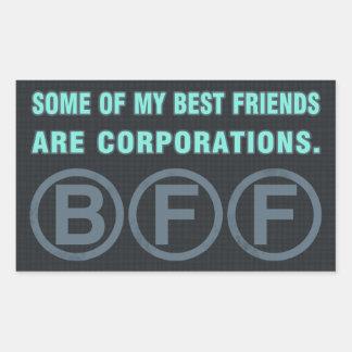 Algunos de mis mejores amigos son sociedades pegatina rectangular