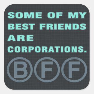 Algunos de mis mejores amigos son sociedades pegatina cuadrada