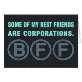 Algunos de mis mejores amigos son sociedades tarjeta de felicitación