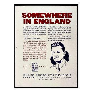 Algunos donde en Inglaterra Tarjetas Postales