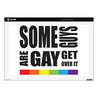 Algunos individuos son gay consiguen sobre él calcomanías para 43,2cm portátiles