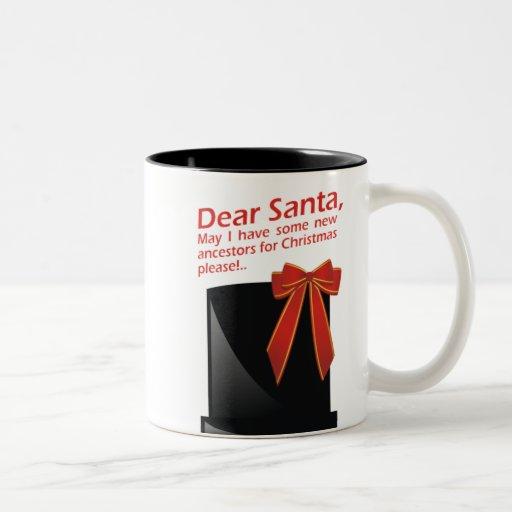Algunos nuevos antepasados para el navidad taza de café