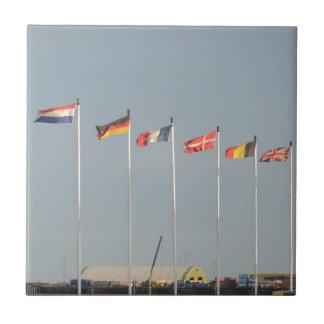 Algunos regalos europeos de la bandera azulejo cuadrado pequeño