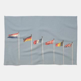 Algunos regalos europeos de la bandera toallas de mano
