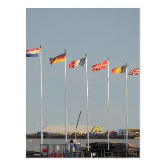 Algunos regalos europeos de la bandera tarjeta postal