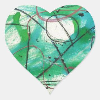 Algunos sistemas llevan a los caminos infinitos pegatina en forma de corazón