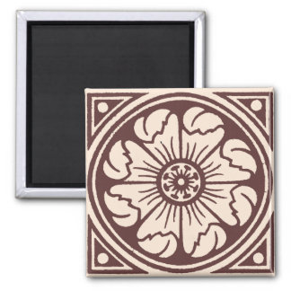 Alhambra Flower Tile One 2 Inch Square Magnet