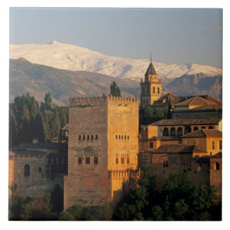 Alhambra; Granada; Andaslusia, España, Sierra Azulejo Cuadrado Grande