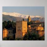 Alhambra; Granada; Andaslusia, España, Sierra Impresiones