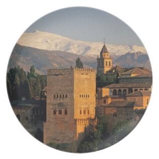 Alhambra; Granada; Andaslusia, España, Sierra Plato De Comida