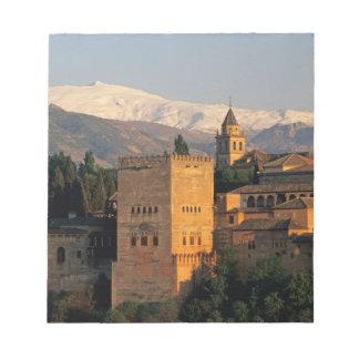 Alhambra; Granada; Andaslusia, Spain, Sierra Notepad