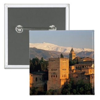 Alhambra; Granada; Andaslusia, Spain, Sierra Pinback Button
