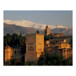Alhambra; Granada; Andaslusia, Spain, Sierra Poster