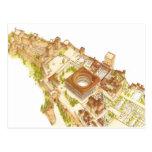 Alhambra Granada España. Castillo y palacios Postales