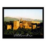 alhambra granada postcard