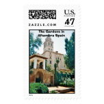 Alhambra in Spain, The Gardens in Alhambra Spain Postage Stamp
