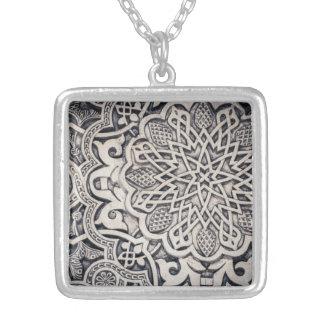 Alhambra Moorish plaster Islamic pattern pendant