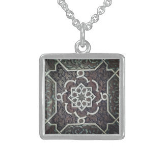 Alhambra Ornate Mosaic Design Sterling Silver Necklace