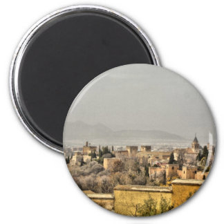 Alhambra Palace, Granada, Spain 2 Inch Round Magnet