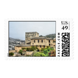 Alhambra Palace, Granada, Spain Postage Stamp