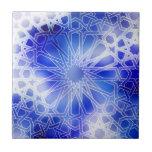 Alhambra Pattern Blue Ceramic Tiles