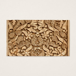 Alhambra pattern business card