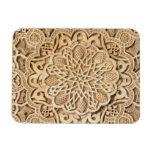 Alhambra pattern rectangular photo magnet