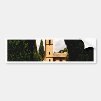 alhambra spain hedge church bumper sticker