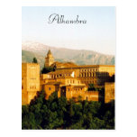 alhambra spain postcard
