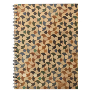 Alhambra Stars Mosaic Multi-Color Notebook