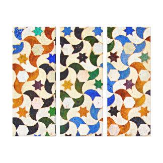 Alhambra Tile Art Wrapped Canvas