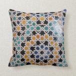 Alhambra Wall Tile #9 Pillow