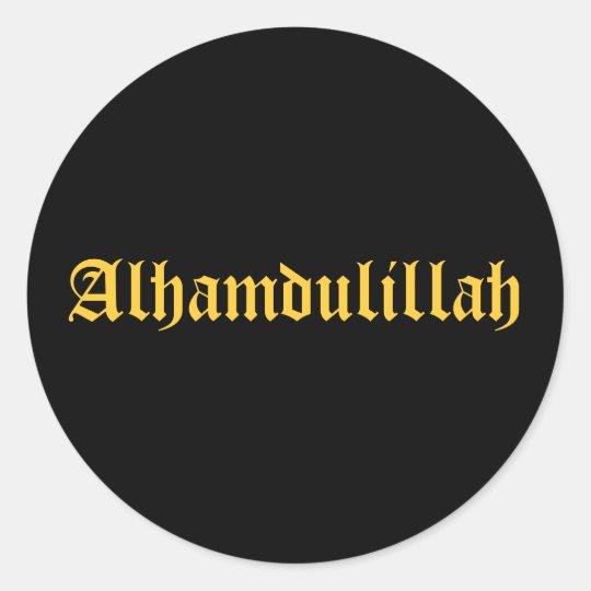 Alhamdulillah classic round sticker zazzle alhamdulillah classic round sticker thecheapjerseys Gallery