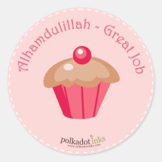 Alhamdulillah - gran libro de los pegatinas del pegatina redonda