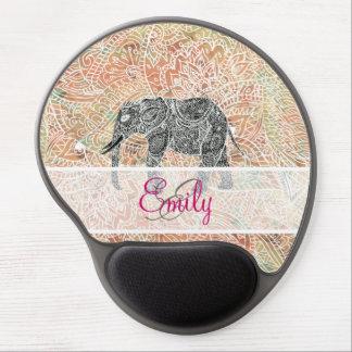 Alheña colorida del elefante tribal de Paisley del Alfombrilla De Ratón Con Gel