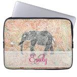 Alheña colorida del elefante tribal de Paisley del Mangas Portátiles